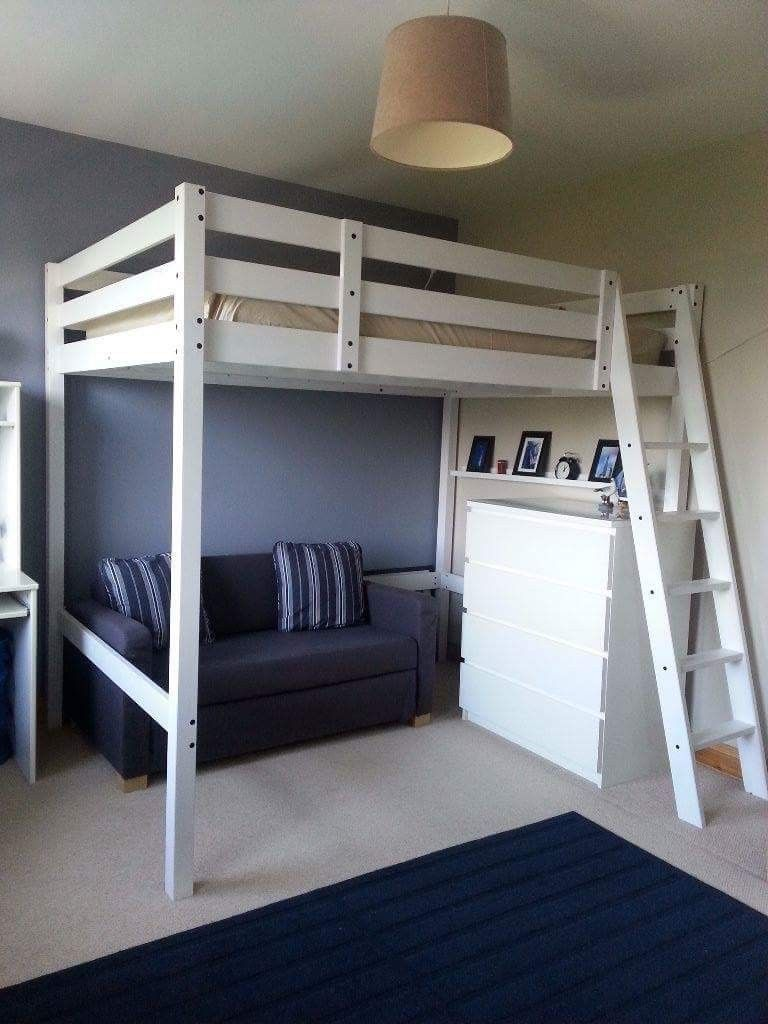 Stora Loft Bed With Images Loft Beds For Small Rooms Ikea