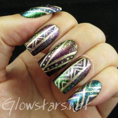 Tribal Multichrome Flakie Gradient With Lacquester Pornflakes A