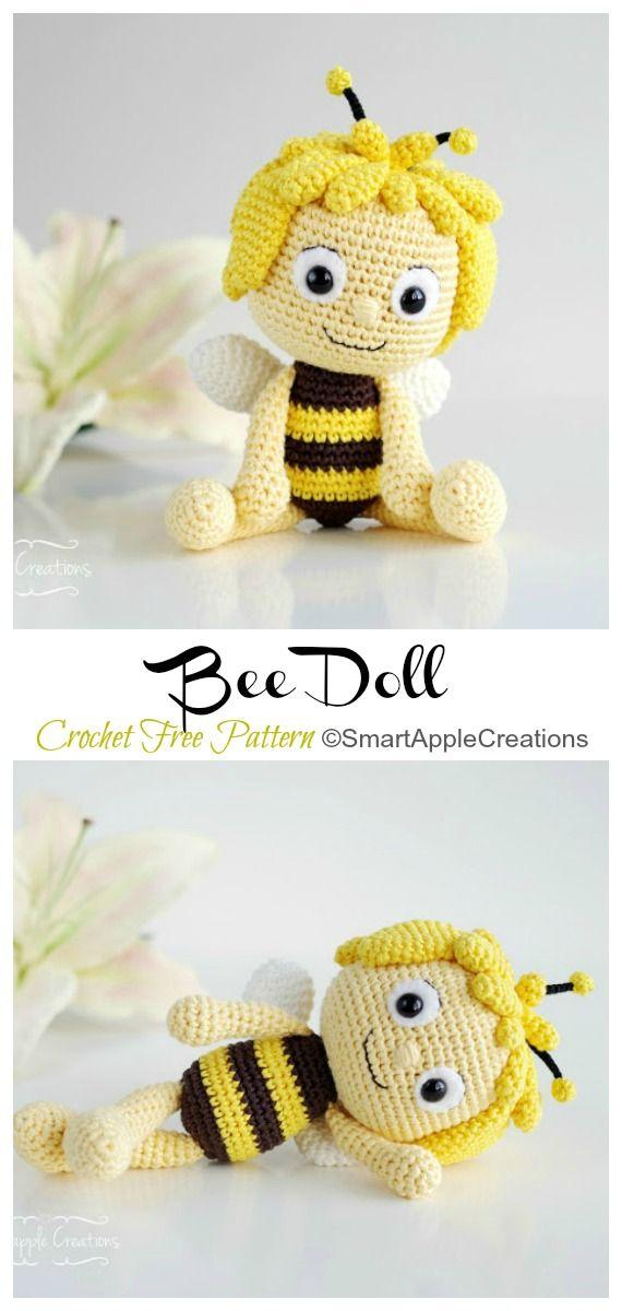 Amigurumi Bee Doll Crochet Free Patterns - Crochet & Knitting