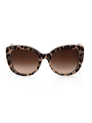 Dolce & Gabbana com estampa de leopardo óculos de sol do olho de gato