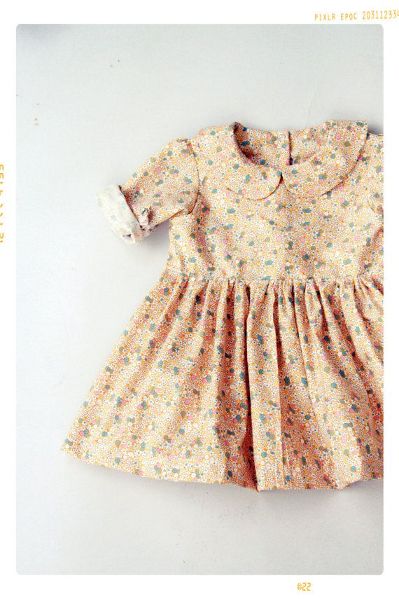 Toddler Peter Pan Collar Dress Pattern Pdf Easy Quick Sewing Project