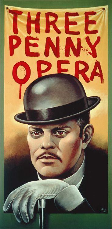 Silezukuk Theatre Poster The Threepenny Opera Paul Davis