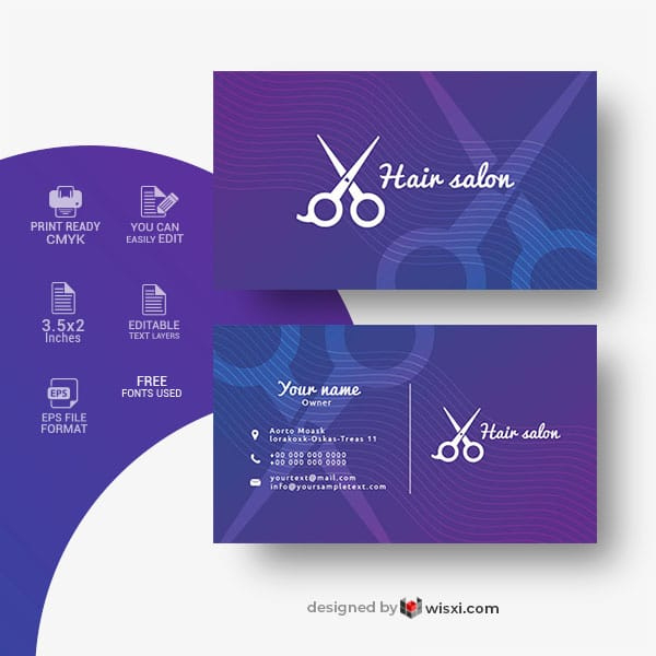 Hair Salon Business Card Template Free Download Wisxi Within Unique Hairdresser In 2020 Hairdresser Business Cards Salon Business Cards Free Business Card Templates
