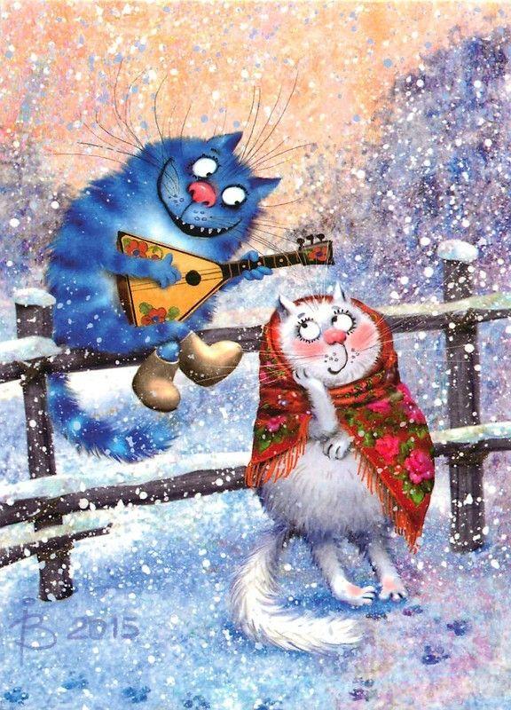 Neige Zut Arrete J Ai Froid Moi 14 Chats De Rina Zeniuk Dessin Chat Illustration De Chat Peinture Chat