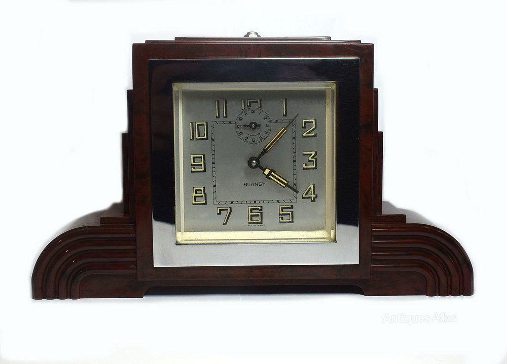 Antiques Atlas Art Deco Bakelite Odeon Clock By Blangy Art Deco Clock Clock Art Art Deco