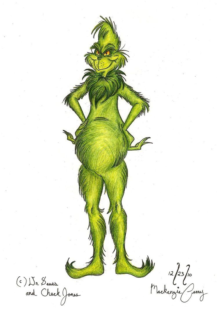 The Grinch Model Colored by FerryQueen on DeviantArt   Christmas ...