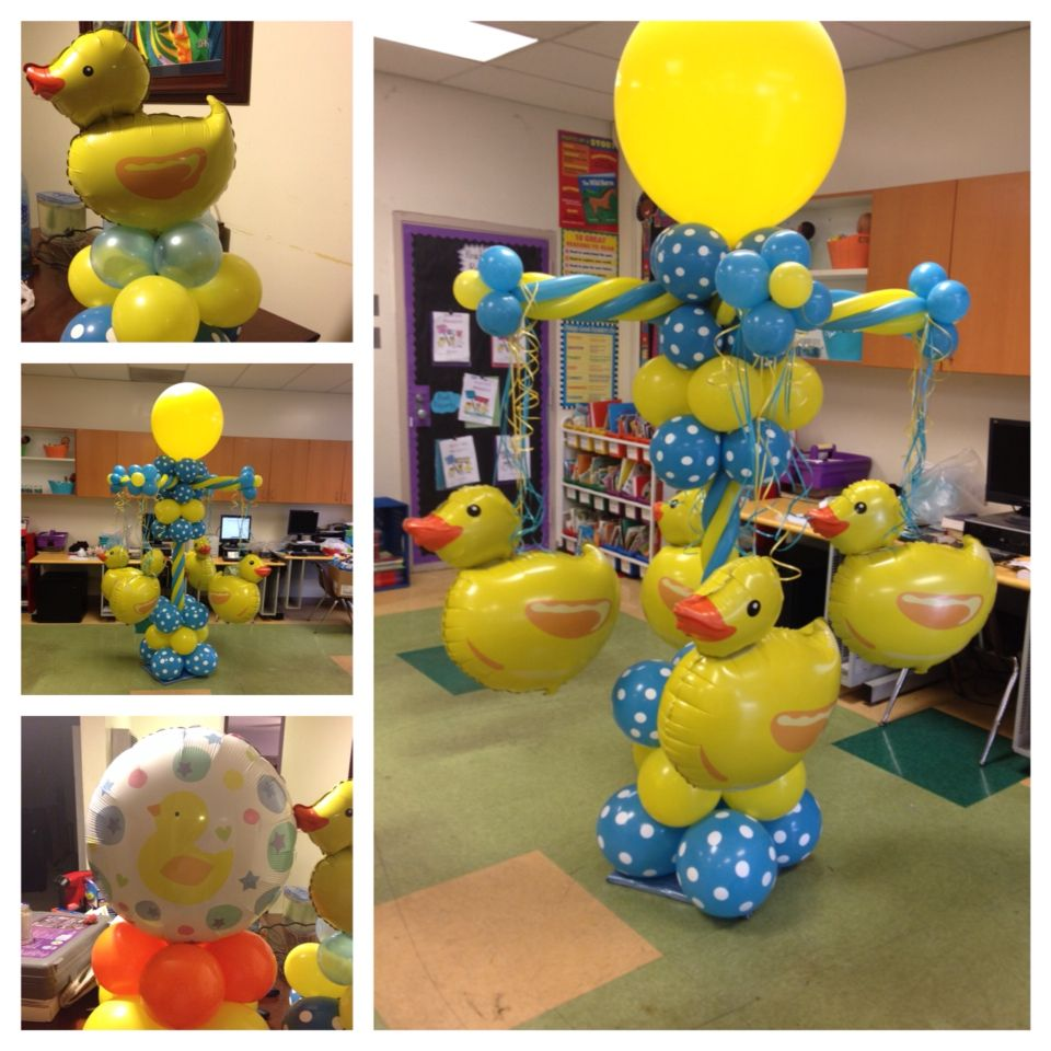 Rubber duck balloon decor | Columns | Pinterest | Rubber duck ...