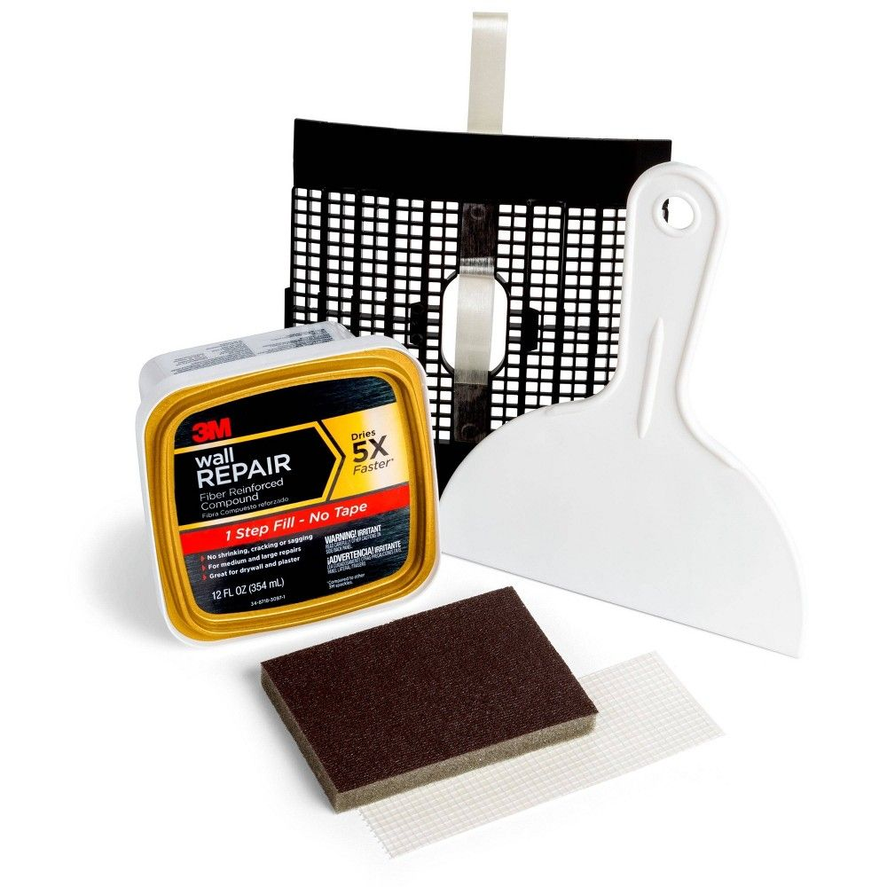 3m Wall Repair Patch Kit White Home Repair Kit Patches