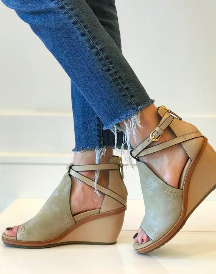 c8a8dbe35 Crux Taupe Wedge   Girls shoes   Shoes, Wedges, Taupe