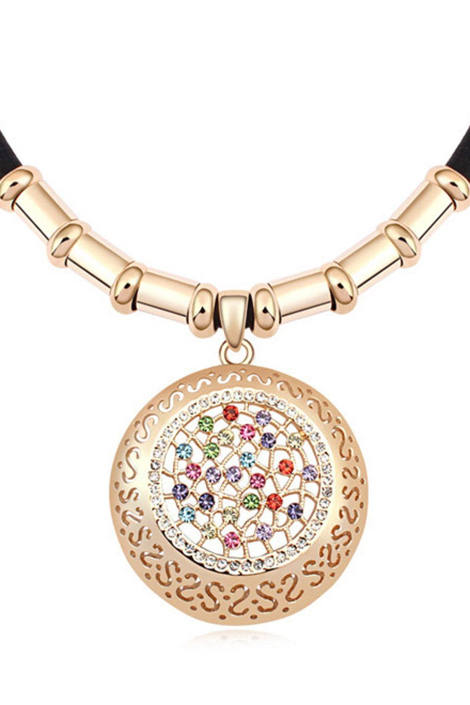 XCrystal - 18k Gold Plated Multicolor Necklace