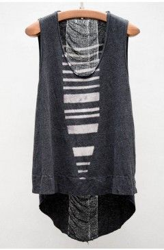 Raquel Allegra Stripes Print Sleeveless Top | $260