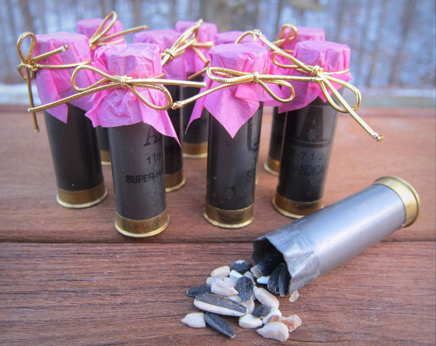 Shotgun Shell Pack of 10 Bird Seed or Confetti by ReadyAimCraft