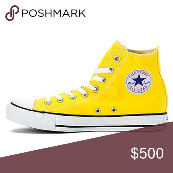 bright yellow converse Sorry not for
