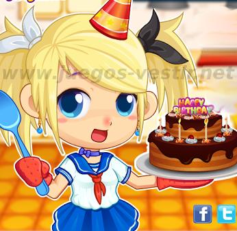 ¿Nos ayudas a preparar una rica tartadecumpleaños?. Nos