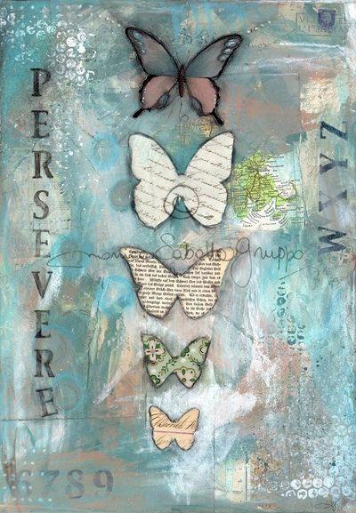 Art Print. Mixed Media Painting. Inspirational Art. Mixed Media Art. Persevere. on Etsy, $20.00