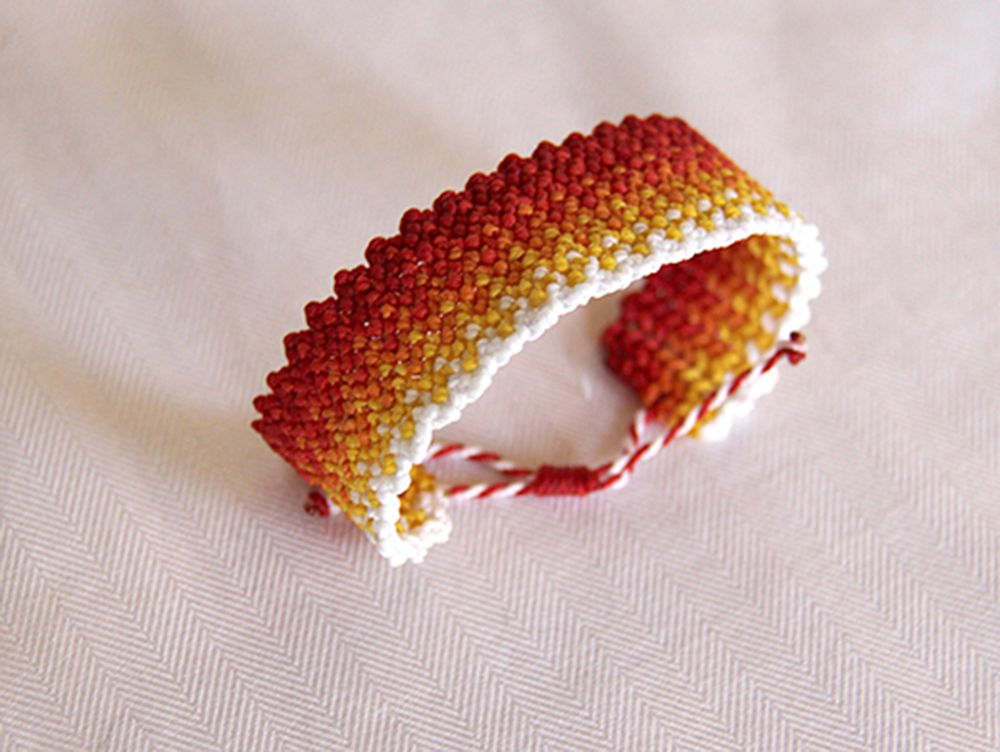 Gradient oranges bracelet!