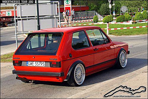 Mars Red Vw Golf Mk1 Gti Volkswagen Golf Mk1 Vw Autos Vw Oldtimer