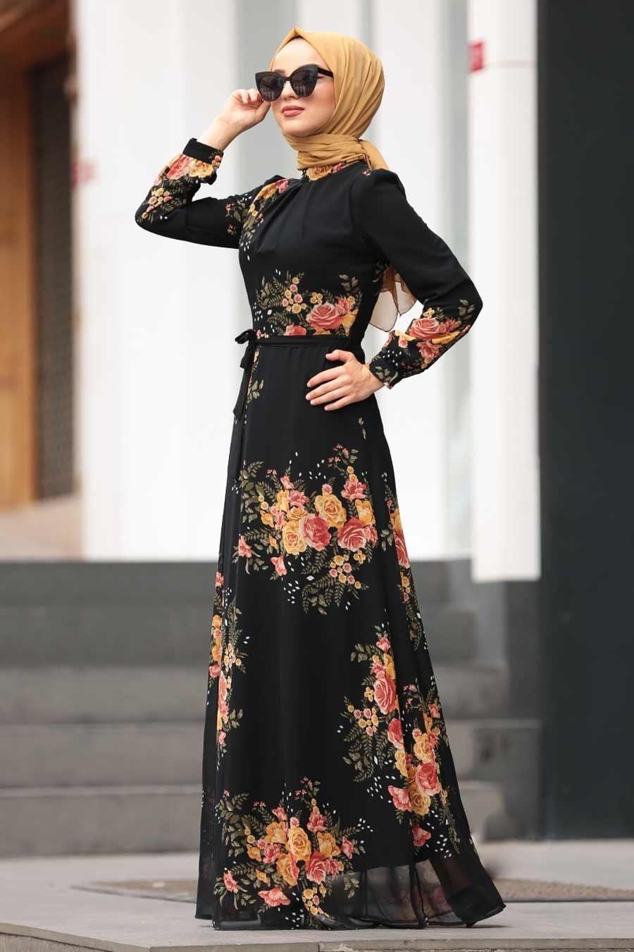 Nayla Collection Cicek Desenli Tesettur Elbise 815235dsn Tesetturisland Com Elbise Modelleri Elbise Moda Stilleri