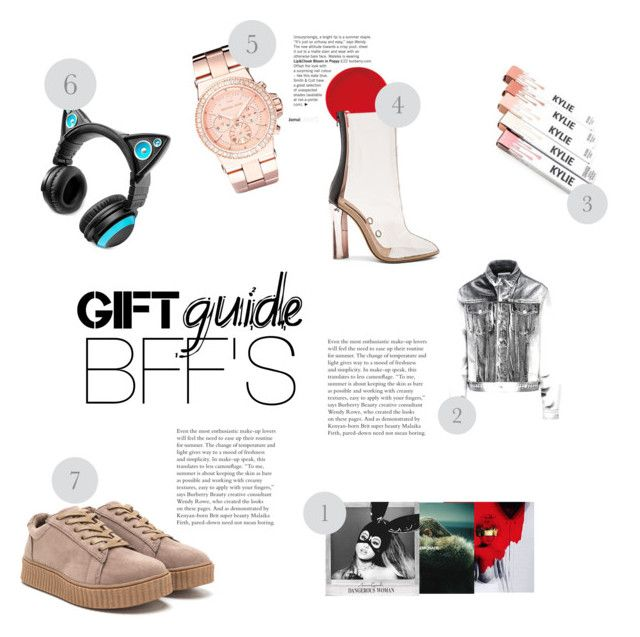 """""""BFFS GUIDE"""" by blahblahrafa ❤ liked on Polyvore featuring Moschino, Brookstone, Michael Kors and adidas"""