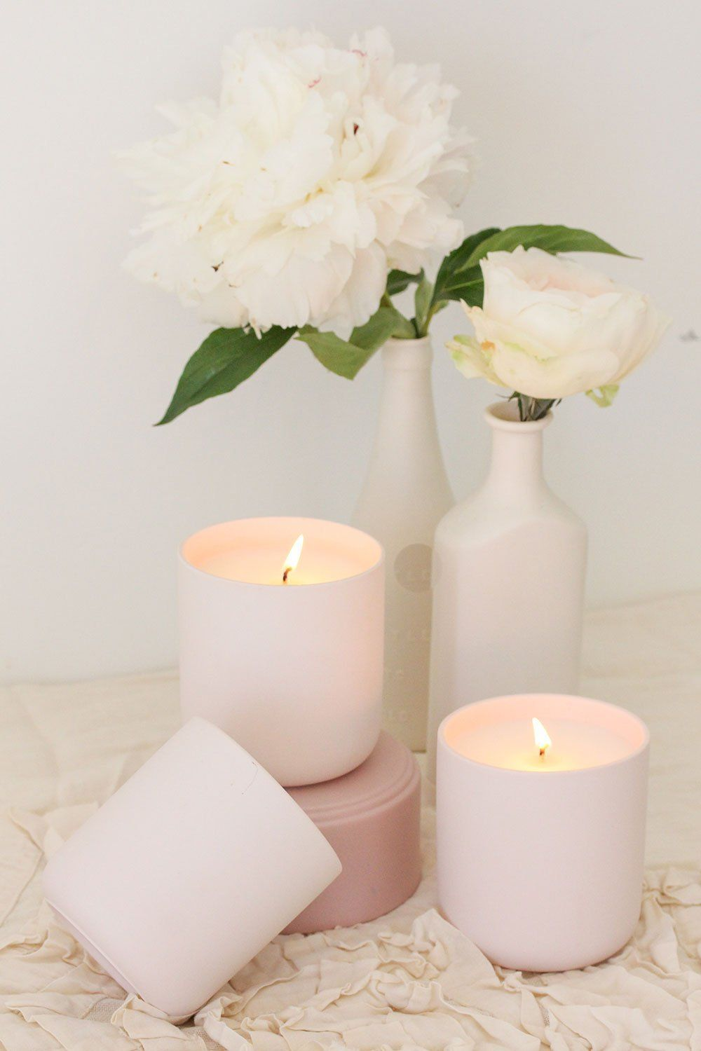 decorative candles Handmade soy wax candles white candles highly scented candles 100/% vegan /& cruelty free. aesthetic candles