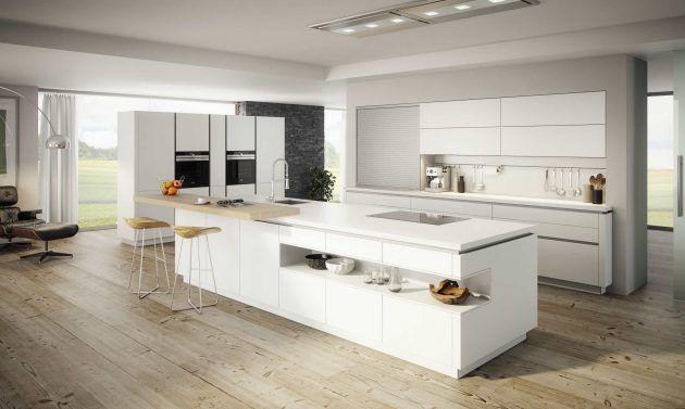 Große, Weiße Küche * Kochinsel * Moderne Kücheninsel * Ewe Küchen