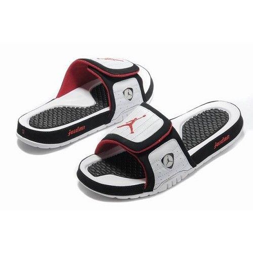 425c86e45364 Cheap Air Jordan Retro 14 sandals White Black Red