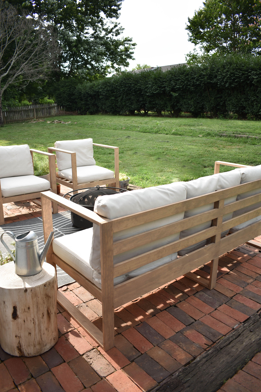 Diy modern outdoor sofa house on longwood lane modern