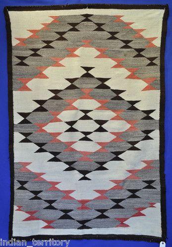 Antique C1920 Navajo Indian Rug Erfly Pattern C 1920 72 X48 Nice