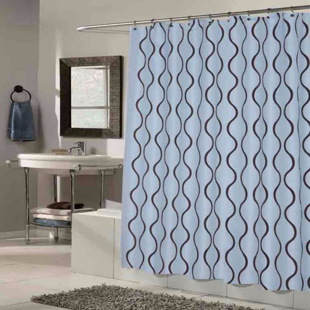 A Coloful Taffeta Shower Curtain With Flocking By Carnation