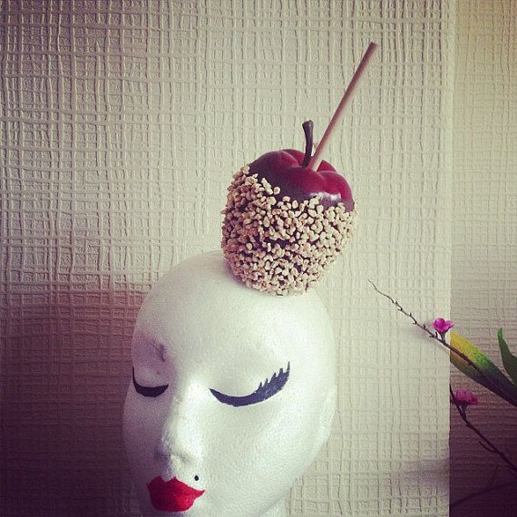 Toffee Apple Halloween Headpiece by ggspinupcouture on Etsy