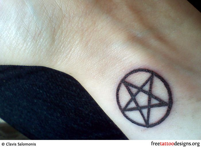 Pentacle I D Like A Small On Somewhere On My Hand Wrist Or Arm