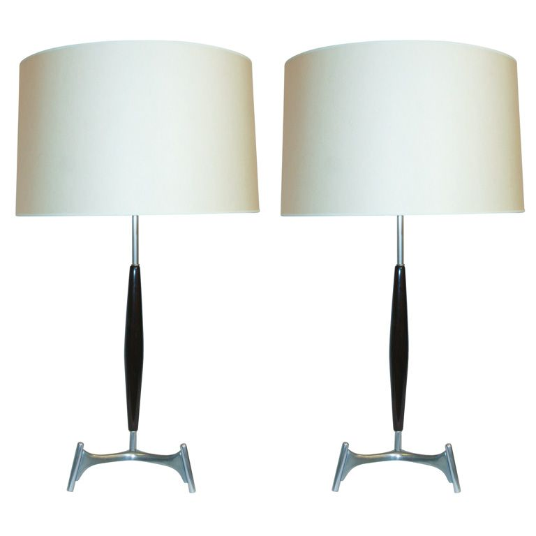 A pair of architectural table lamps by gerald thurston modern a pair of architectural table lamps by gerald thurston aloadofball