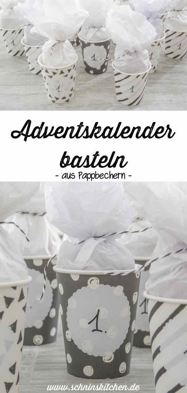 Adventskalender basteln aus Pappbechern – Schnin's Kitchen