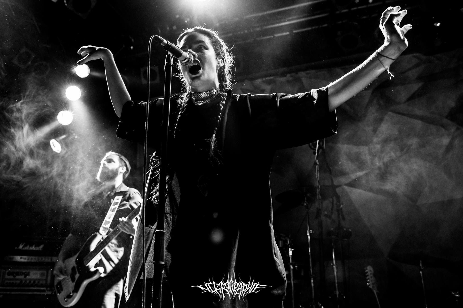 Milena Eva of GOLD - Post everything dark rock - Dutch band