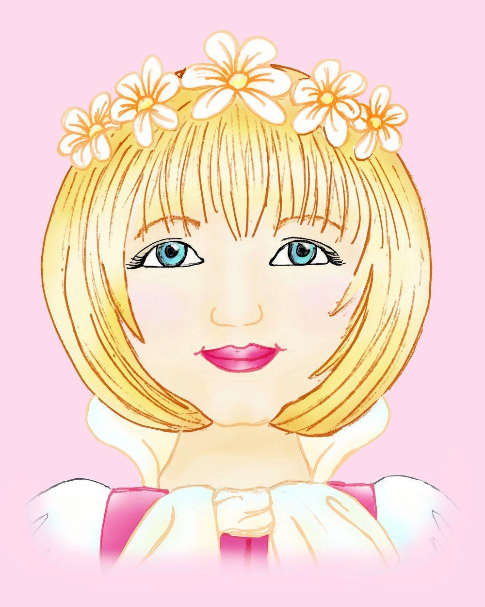 Sleeping Beauty, Princess, Children Decor, Kids Wall Art, pink ...