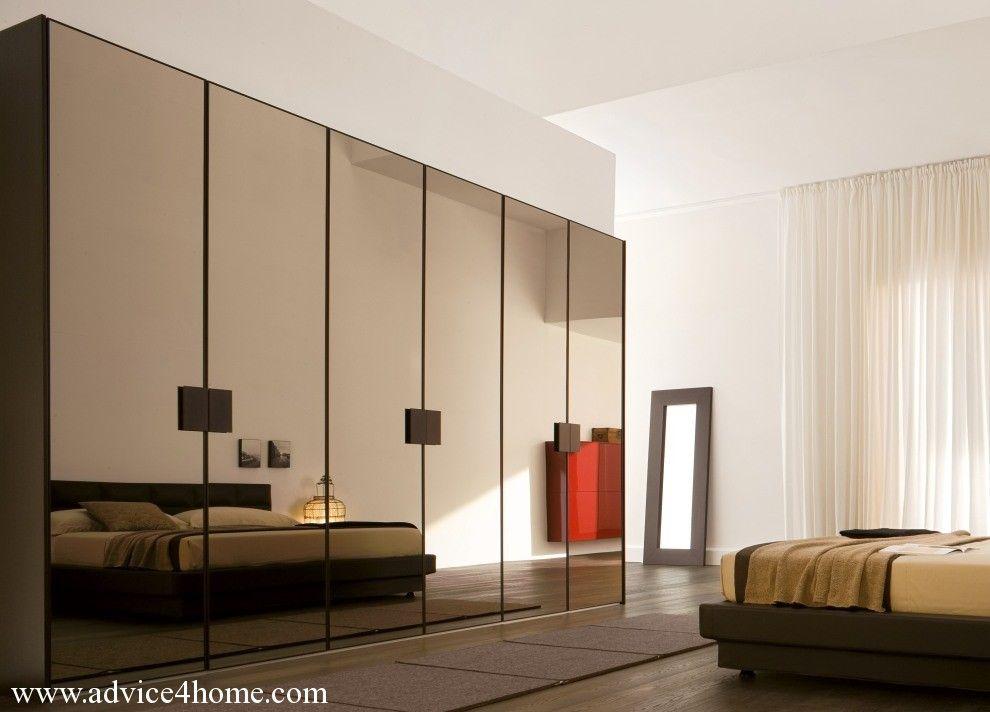 stylish brown glass wardrobe design Wardrobe Design