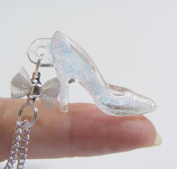 Glass slipper necklace miniature glass slipper pendant glass glass slipper necklace miniature glass slipper pendant glass slipper jewelry princess shoe glass shoe miniature food jewelry mini food aloadofball Gallery