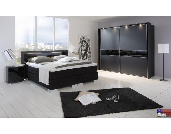 Zeer luxe complete slaapkamer van Wiemann, model Aruba zwart Deze ...