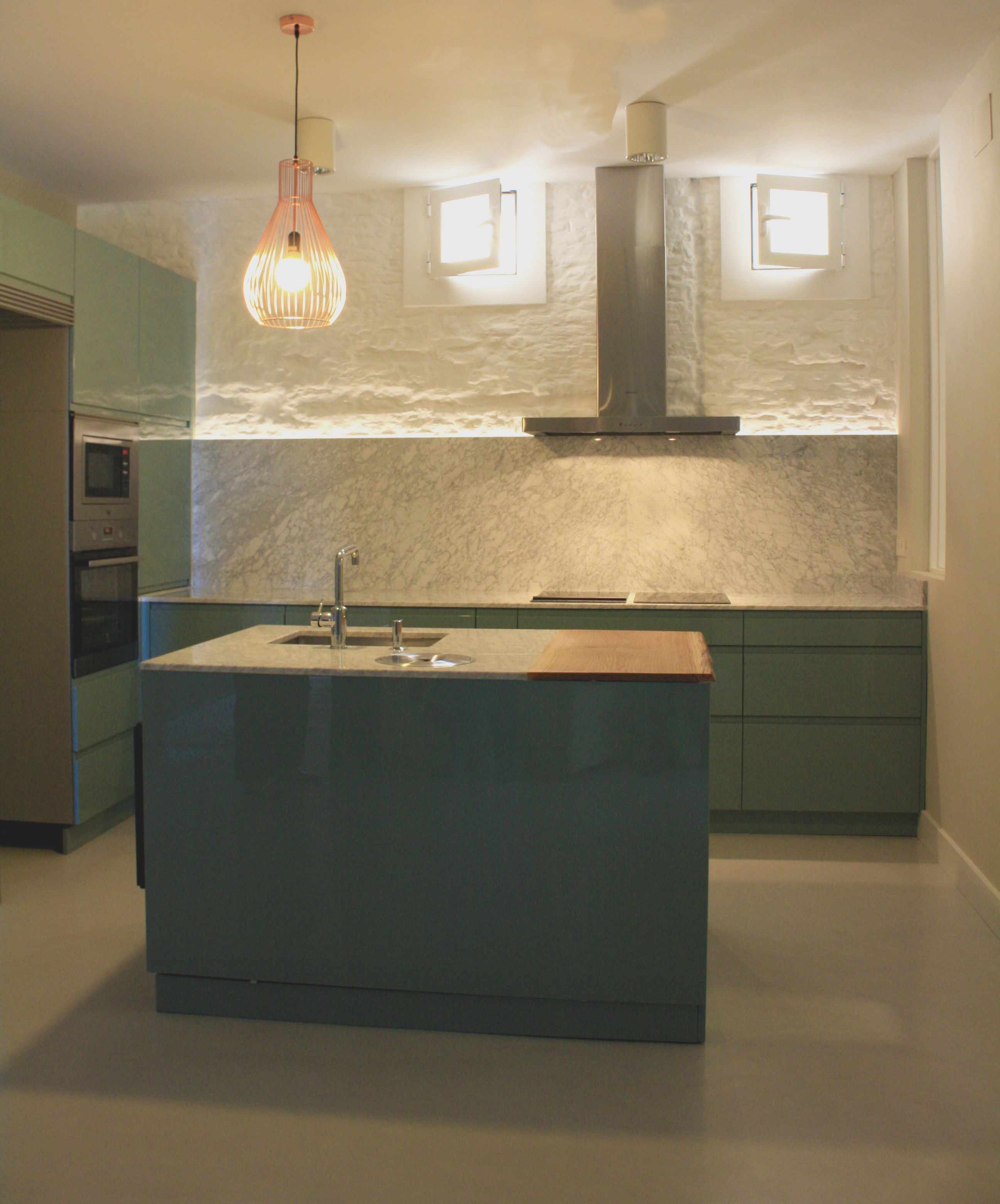 Ideas de #Cocina, estilo #Contemporaneo color #Verde, #Blanco, #Gris ...