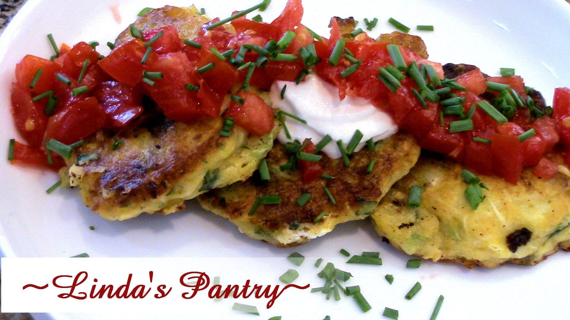~Summer Squash Garden Fritters With Linda's Pantry~  mit viel Zuchini