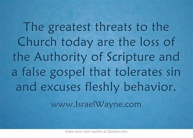The greatest threats to the Church today are the loss of the