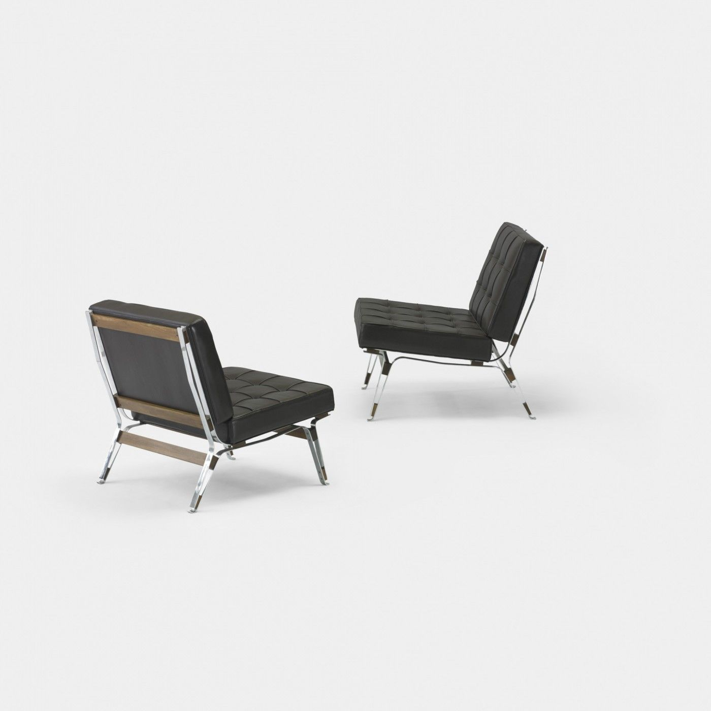 Ico Parisi Lounge Chairs Model 856 Pair Cassina Italy 1955