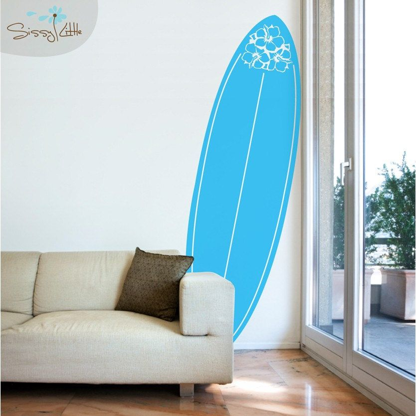 Vinyl Surf Board Wall Decal Home Decor Surfing | Soothing ...