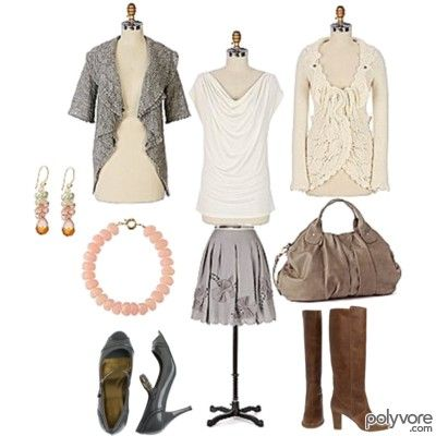 Neutral pieces and boots