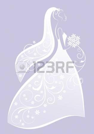 Vektor Illustration Einer Schönen Braut Laden Pinterest