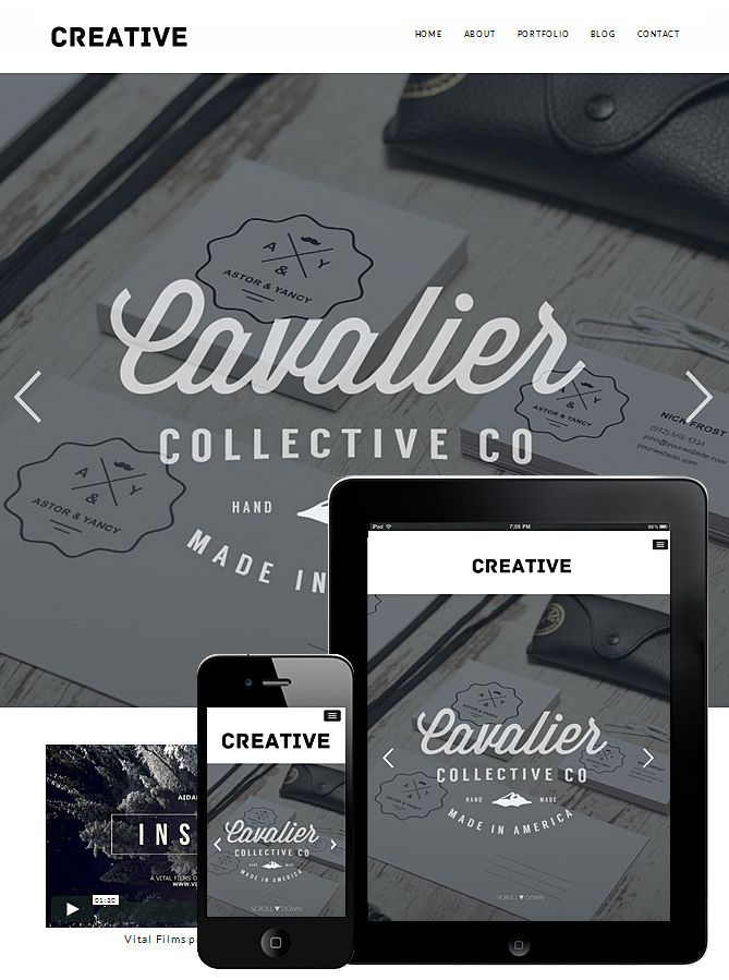 Creative Portfolio Responsive WordPress Theme is great theme for any ...