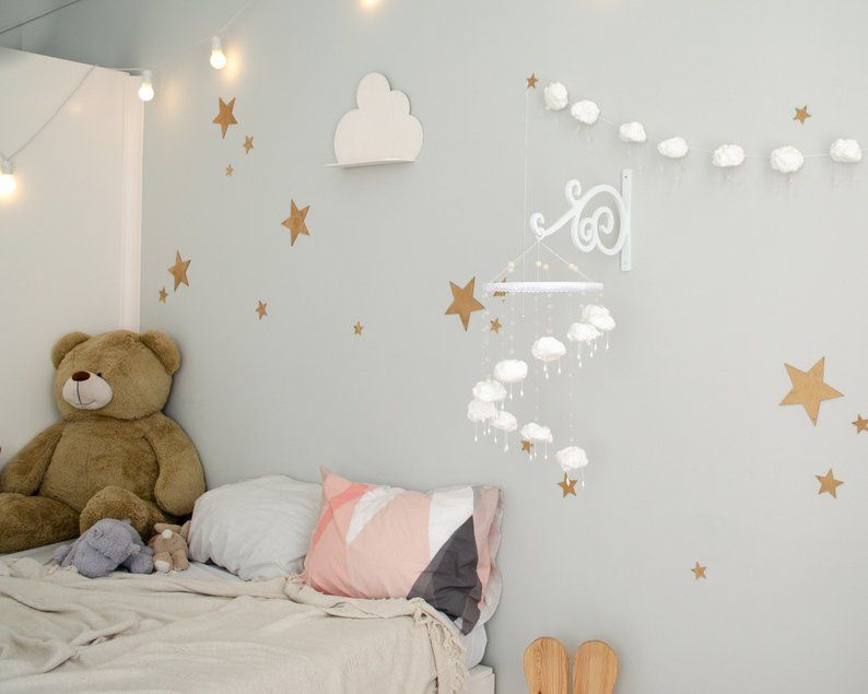 Wall Mounted Baby Mobile Arm White Wall Baby Mobile Hanger Etsy Baby Mobile Arm Baby Mobile White Walls