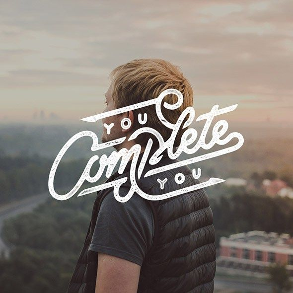 You Complete You - Mister Doodle - 25 Beautiful Examples of Motivational Quote Typography // the PumpUp Blog