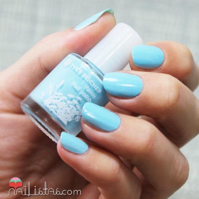 Esmaltes de uñas #YvesRocher azul Bleu Nacré #nails #nailpolish ...