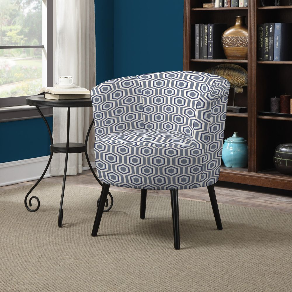Portfolio Mariel Honeycomb Blue Arm Chair  Overstock™ Shopping Beauteous Overstock Living Room Chairs Design Ideas